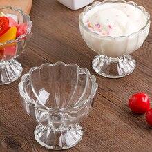 Transparent Cup Milkshake Beverage Dessert Salad Bowl Glass Home Tableware