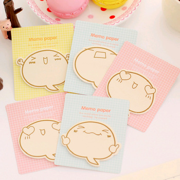 1 pcs Korean Creative Cartoon Expressions Encouragement Brother N times Posting Lovely Notes kawaii stickers notes image
