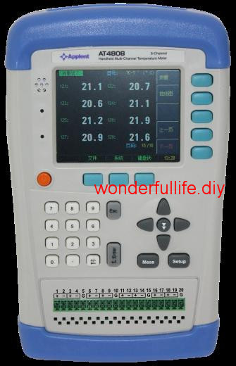 Multi-Channel Temperature Meter 8 Channels 0.2% Thermocouple J K T E S N B R -200C-1300C TFT LCD Digital Thermometer