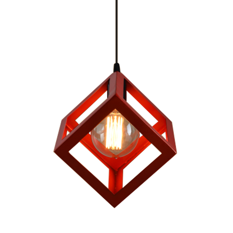 Modern pendant lights art deco colorful cube pendant lamp iron cage modern pendant lights art deco colorful cube pendant lamp iron cage lamp shade hanging lamp home lighting light fixtures in pendant lights from lights mozeypictures Image collections