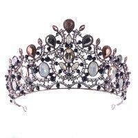 Romantic Diadem Tiaras Women Hair Bridal Jewelry Accessories Sets Rhinestone Gorgeous Baroque Vintage Wedding Crowns