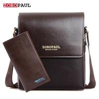 ZOROPAUL 2017 Fashion Business Leather Men S Messenger Bags Designer Handbags High Quality Crossbody Vintage Shoulder