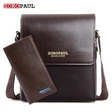ZOROPAUL 2017 Fashion Business Leather Men's Messenger Bags Designer Handbags High Quality Crossbody Vintage Shoulder Man Bag