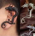 Fashion punk rock nightclub dragon earrings without pierced ears can wear jewelry national wind Free shipping