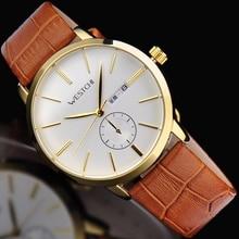 2016 Top brand мужчины наручные часы водонепроницаемые спортивные часы мужчины ремень из натуральной кожи роскошные повседневная спорт кварцевые наручные часы