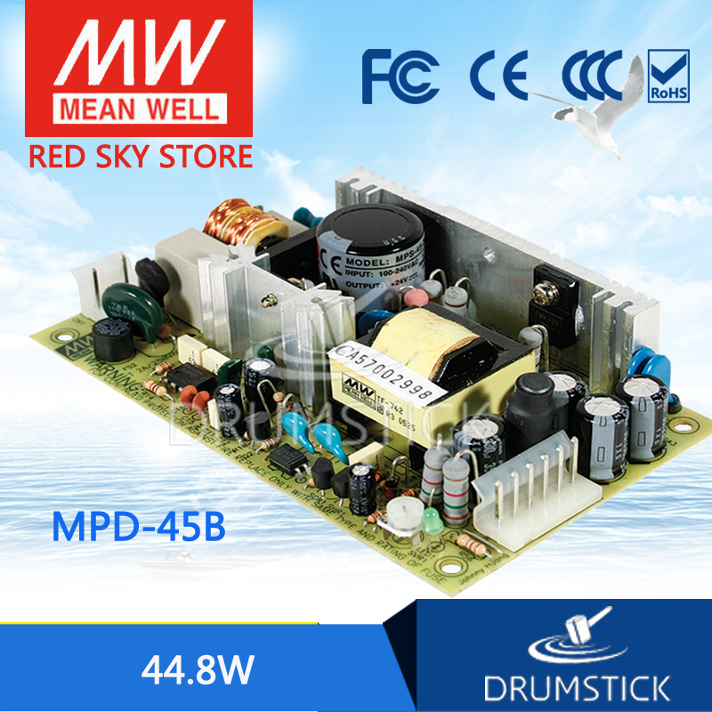 Genuine MEAN WELL MPD-45B meanwell MPD-45 44.8W Dual Output Medical Type Switching Power Supply стоимость