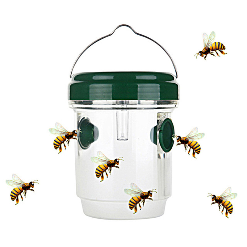 1 Pcs Plastic Insect Catcher Outdoor LED Solar Powered Fly Trap In Tree Flying Bee Hornet Trap Catcher Insect Mosquito Killer