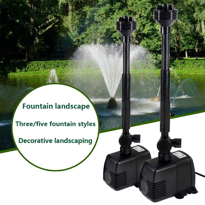 Аквариумный фонтанный насос 220 В, садовый водяной насос для пруда с циркуляцией кислорода, погружной аквариумный водяной насос для пруда с 3 режимами|Водяные насосы|   | АлиЭкспресс