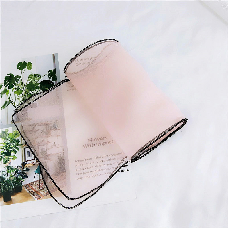 El nuevo organza de color sólido pequeño párrafo corto pañuelo - Accesorios para la ropa - foto 6