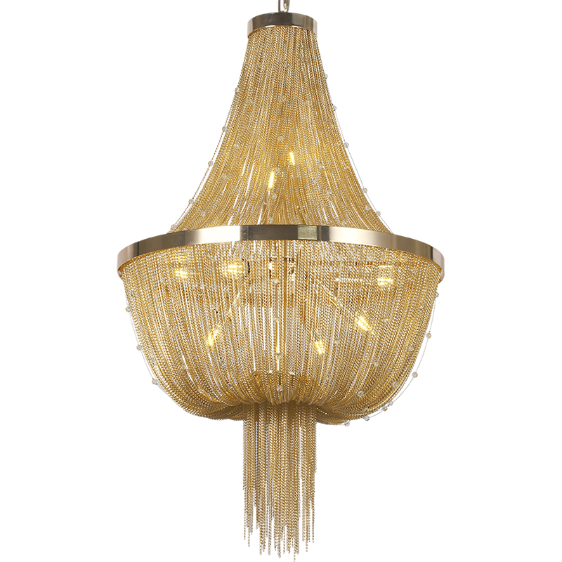 D55cm современная люстра, лампа Алюминий ATLANTIS поток Кристалл Дизайнер освещение люстры Гостиная отель свет