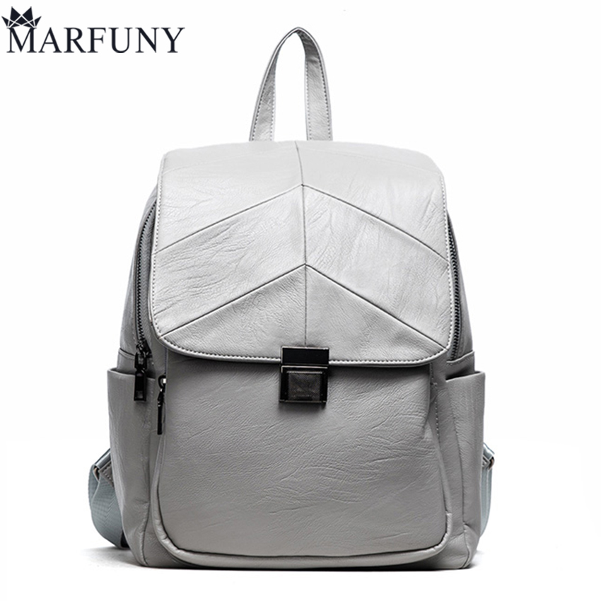 Fashion Lock Backpack Women Backpack High Quality Pu Leather Backpacks For Teenage Girls Schoolbag Backpack Vintage Women Bag miwind fashion women backpack college style pu leather women school backpack vintage women shoulder bag girls schoolbag tbb661