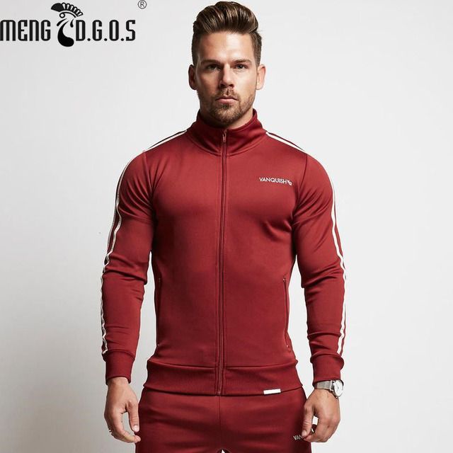 casual Gyms Autunno manica Zipper uomo Menswear Moda lunga 2018 Fitness Shirt per Felpa DWbH2eY9IE