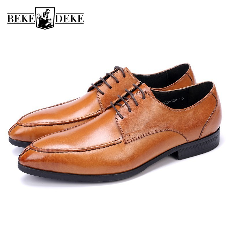 New 2017 Business Men Formal Shoes Wedding Dress British Pointed Toe Fashion Genuine Leather Zapatos Flats Oxford Shoes For Men zapato oxford azul formal wedding men shoes mens summer dress black pointed shoes chaussure homme new brand men leather flats