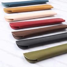 Pen Bag Vintage Retro Style Handmade Genuine Leather One Pencil Real Travel Journal Supplies Joy Corner