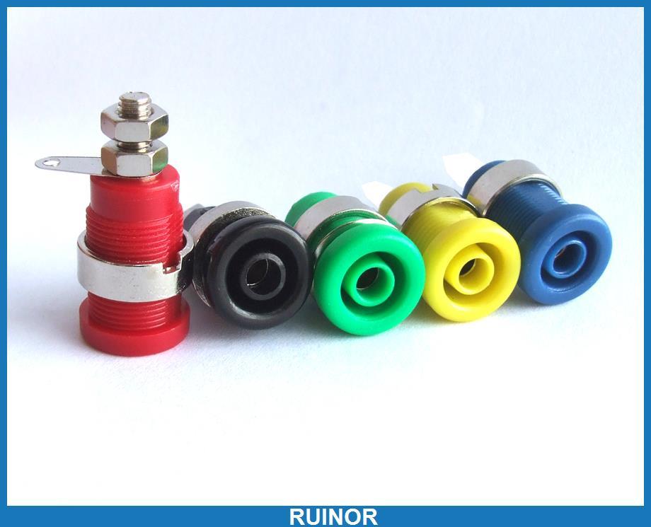 ФОТО 50pcs 4mm Banana Socket Nut Washer for Multimeter Oscilloscope Binding Post