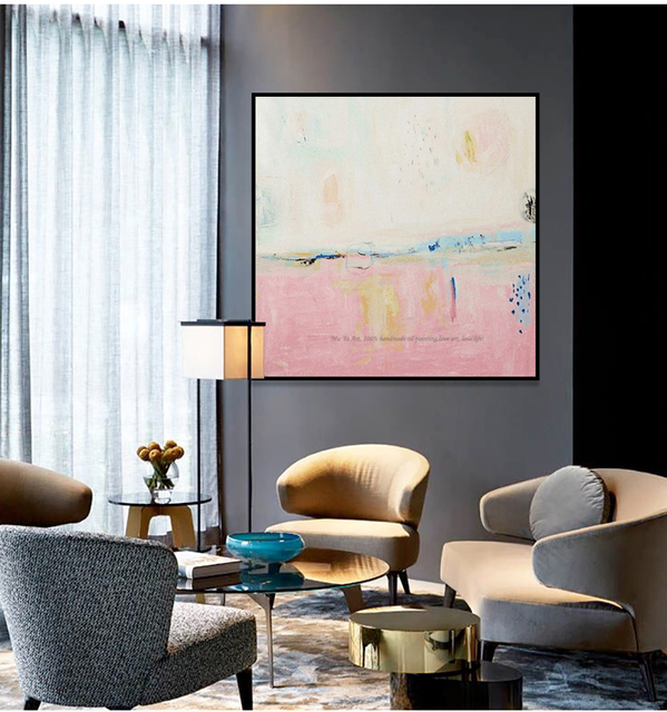 US $49.0 |Große Berühmte ölgemälde reproduktion Moderne leinwand kunst  vintage handgemachte ölgemälde leinwand rosa wand bild für wohnzimmer in  Große ...