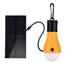 Portable Outdoor Camping Light Solar Powered LED Bulb Light Solar Lamp Lantern 3 Modes Emergency Lights For Home Tent Fishing 18650 battery powered lantern tent lamp portable usb charging led night lights with magnet outdoor camping light flashlight bulb