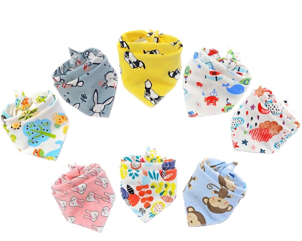 Baby Babador Bib 8 Piece/pack  Baby Cotton Bibs