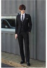 Markyi Мода весна мужские свадебные смокинги 2017 брендовые Свадебные 3 шт. костюмы для мужчин однобортное Slim Fit костюм мужской большие размеры