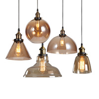 Post Modern Gold Glass Pendant Light LED Silver Copper Hanging Glass Pendant Lamp Indoor Decrative Glass