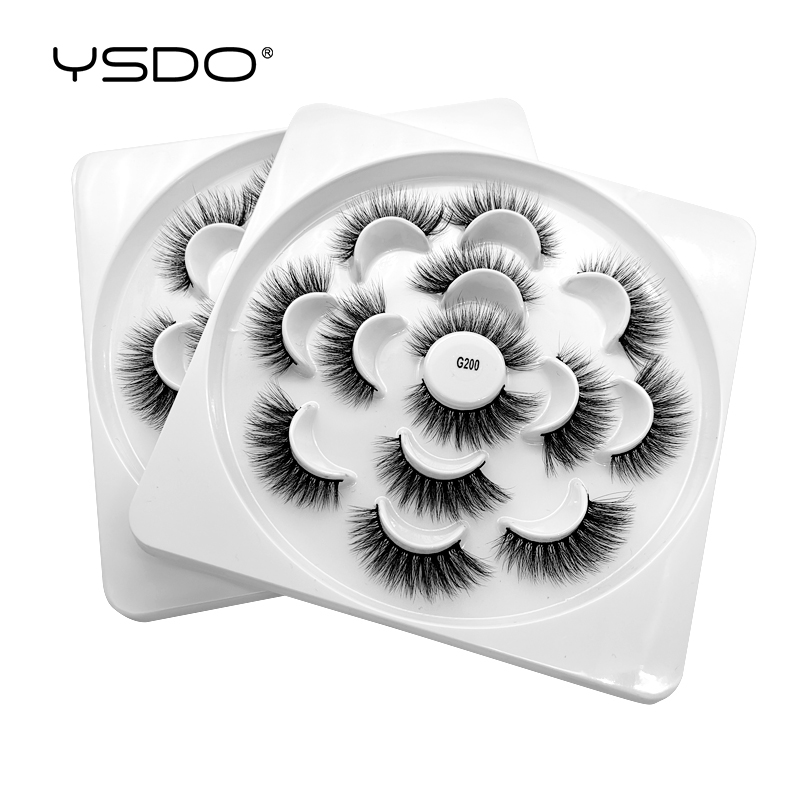 YSDO 7 pairs 3d mink lashes natural false eyelashes fake makeup eyelash extension volume cilios G2