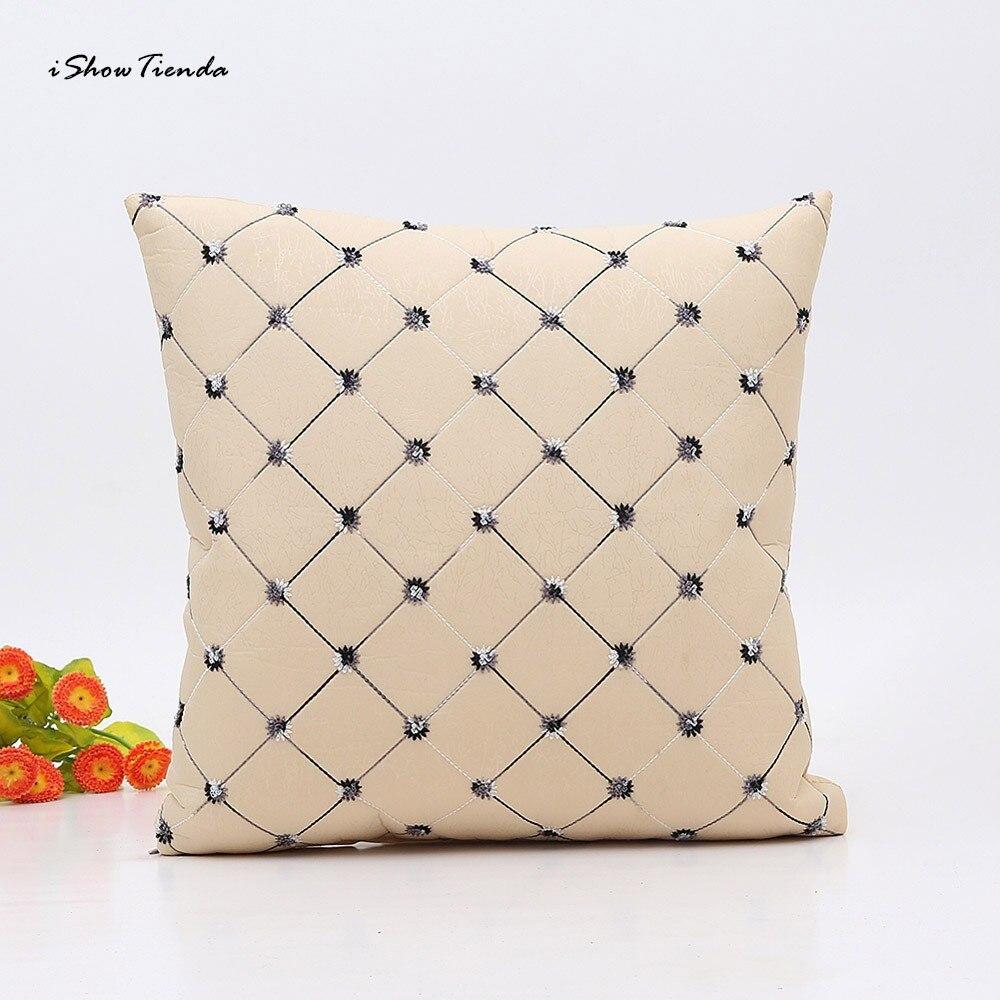 ISHOWTIENDA Nuovo 1 pz 45 cm   45 cm Bello Puntino di Colore Puro Home  Decor Plaid Gettare Pillow Case Piazza Cuscino Famiglia Decor New 8275a7b3241b