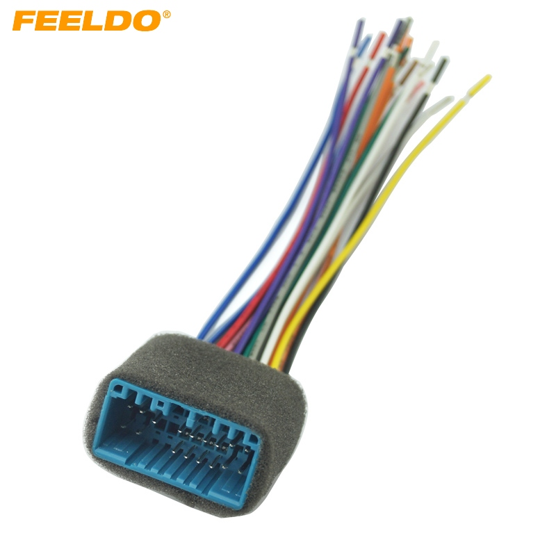Feeldo 5pcs Car Aftermarket Audio Radio Stereo Wiring