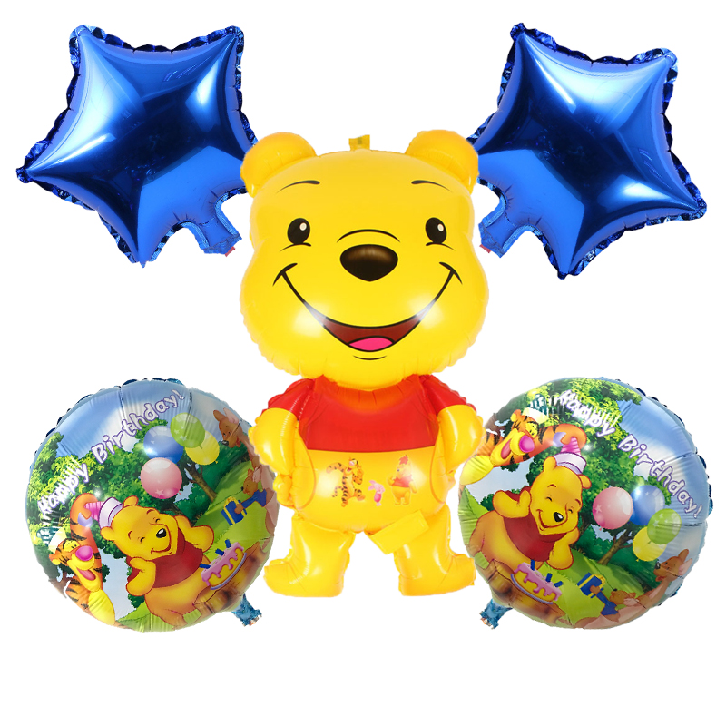 Home & Garden Honey 18inch Happy Birthday Round Foil Balloons Children Classic Toys Inflatable Helium Balloon Happy Birthday Ballons Party Supplies