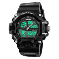 SKMEI 충격 남성 스포츠 시계 LED 디지털 시계 패션 브랜드 야외 50 메터 방수 손목 군사 Relogio Masculino 1029