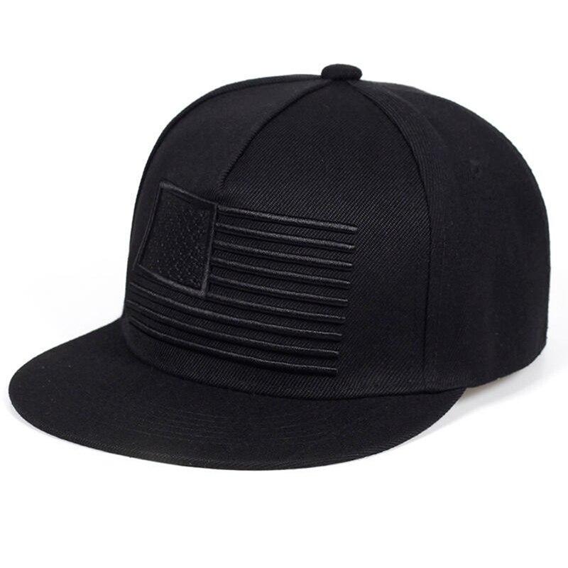 Fashion Stripes Embroidery Cool Flat Bill Baseball Cap Mens Gorras Snapbacks 3D Flag Hat Ourdoor Hip Hop Snapback Cap