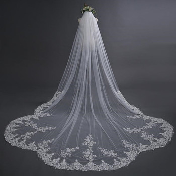 2019 Designed Bridal Veils Lace Appliques One-Layer Amazing Wedding Veils Bridal Accessories with Combs