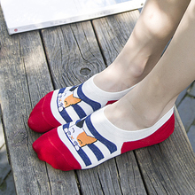 HSS High Quality Women Socks Slippers Animal Cat Footprints Striped Cartoon Socks Women's Cotton Floor sock for Lady Girl Kid