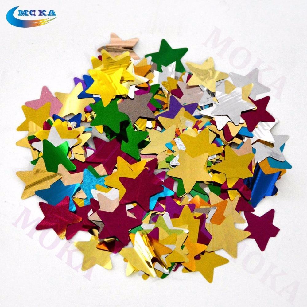 2kg/lot Colorful truss foil paper confetti paper star for confetti machine wedding decoration for stage effect