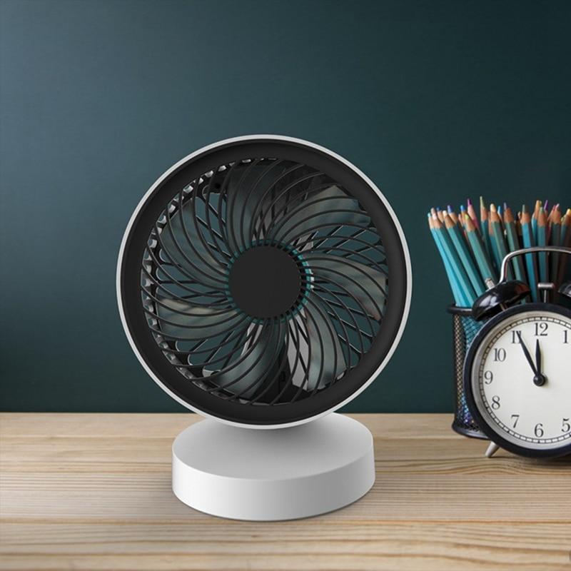 DMWD 7 Blades Portable Mini Fan Desktop USB Electric Fan Office Cooling Fan For Laptops Power Bank DC5V