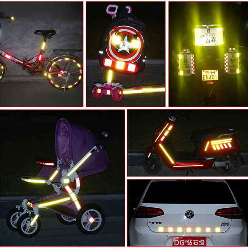 3M Bike Stickers Decals Reflective Stickers Strip Bicycle Reflective Tape Sticker Bicycle Wheel Bike Bicycle Accessories 5