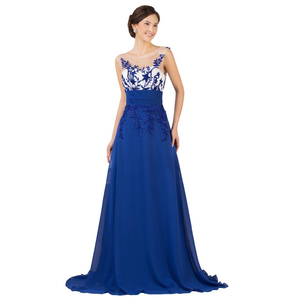 Gorgeous Grace Karin Royal Blue Evening Dress Elegant Beading ...