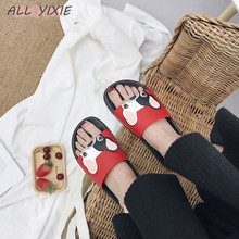 ALL YIXIE 2019 New Women Slippers Fashion Summer lovely Ladies Casual Slip On Bulldog Beach Flip Flops Slides Woman Indoor Shoes