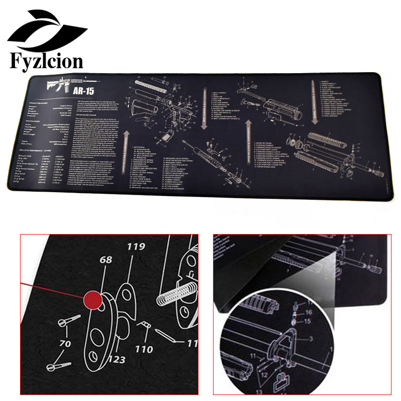 AR10 15 AK47 Tactical Hunting Non-Slip Gun Cleaning Bench Rubber Mat  K98K SIG556 SKS Mosin-Nagant With Full Parts List View Sch