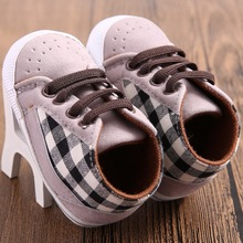Brand Baby Boy Shoes Baby Soft Casual Plaid Newborn Sneakers
