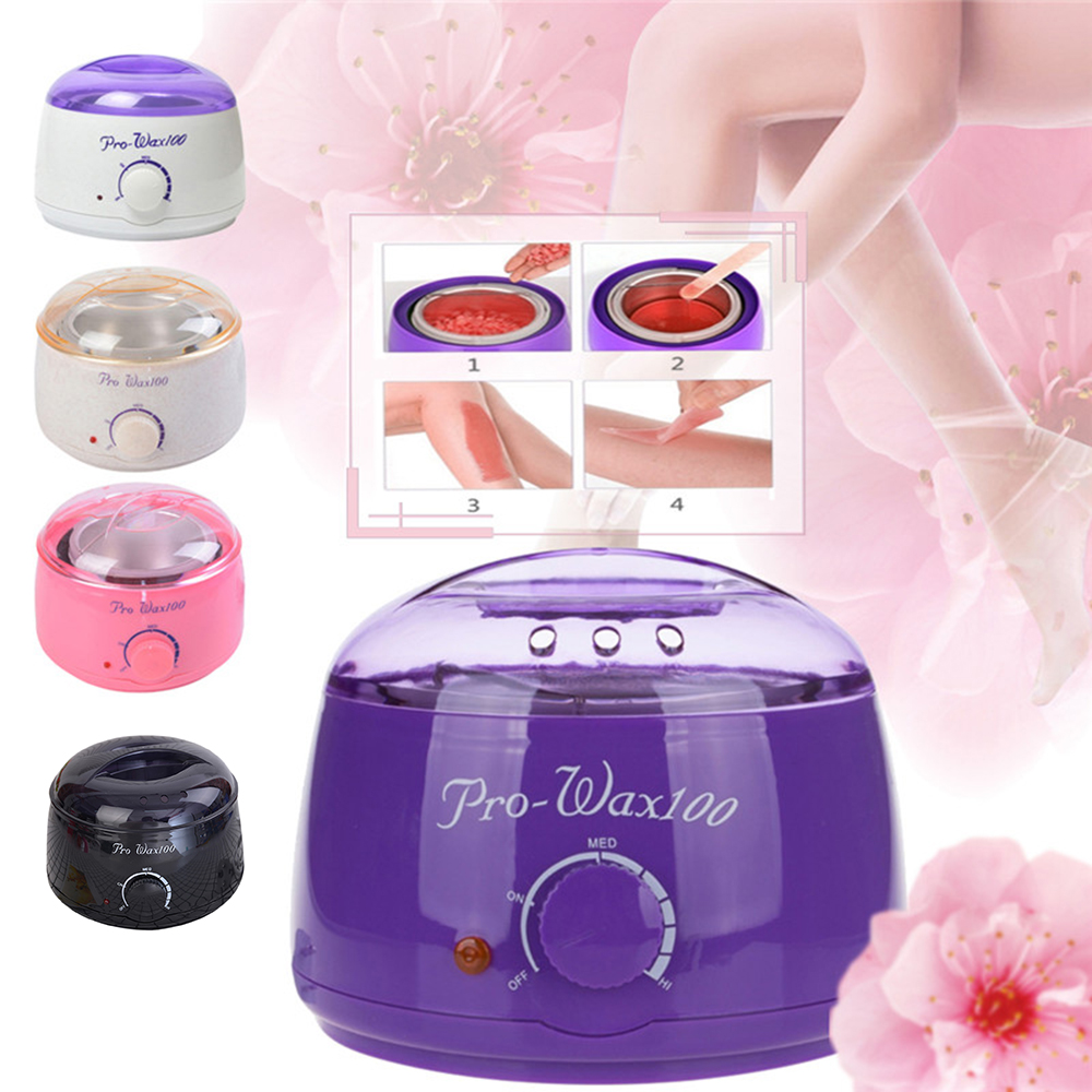 Paraffin Wax Warmer 500C Feet Mini SPA Hand Wax Heater Epilator 100W Rechargeable Machine Body Depilatory Hair Removal Tool