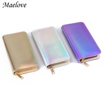 Maelove Hologram Wallet Women Laser Silver Bag Mini Purse Wallet Small Hologram Handbag Card Holder Phone