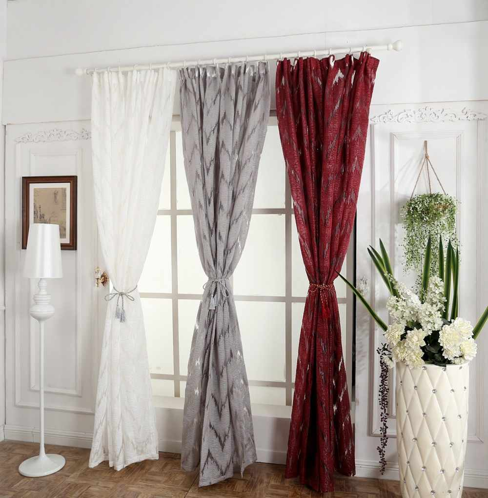 Jacquard Window Curtain Drapery