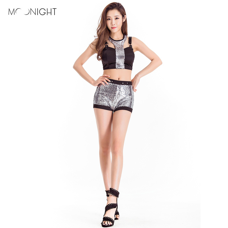 MOONIGHT New arrival Fashion Sexy Female Dj Dance Nigthclub Costumes School Clothes For Singer Stage Performance Wear Costumes