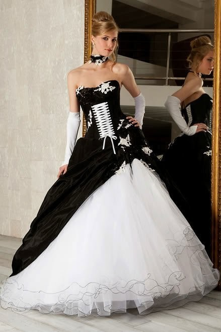Weddings & Events New Arrival Quinceanera Dresses Black And White Organza Ball Gown Custom Made Applique Tiered Sweet 16 Girl Dresses Demand Exceeding Supply