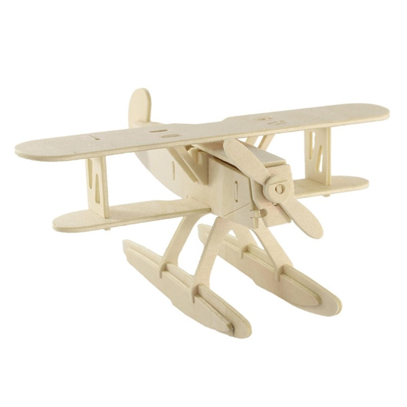 Wooden Kids 3D Jigsaw Toys Children Early Education Planning Learning Animal Puzzles Plane Helicopter Model Homen Decor wooden magnetic tangram jigsaw montessori educational toys magnets board number toys wood puzzle jigsaw for children kids w234