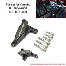 Für Yamaha YZF R1 2007 2008 CNC Rahmen Slider Crash Pad Motor Stator Fall Saver Abdeckung Fallen Protector POM für yamaha 2004 2006