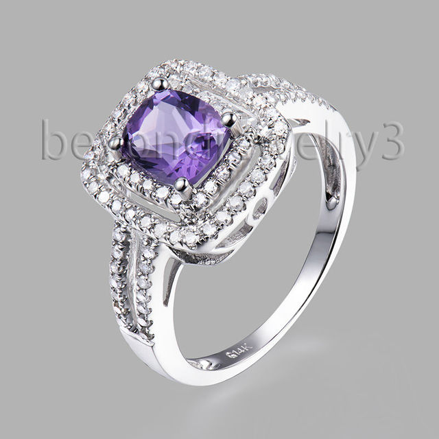 purple wedding ring genuine amethyst engagement ring purple amethyst 6921