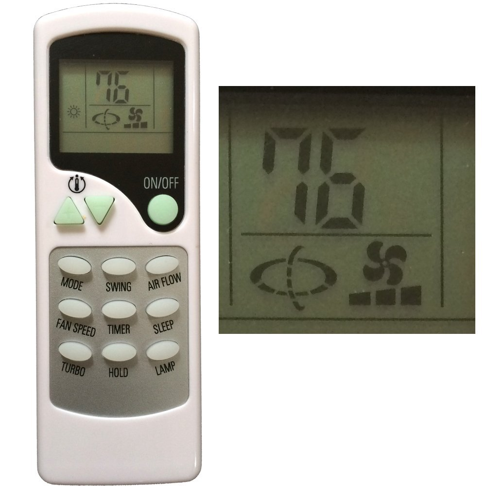 YINGRAY Replacement For THERMAL <font><b>ZONE</b></font> <font><b>Air</b></font> Conditioner Remote <font><b>Control</b></font> ZHF/LT-01 (Please note: It is NOT compatible for ZH/LT-01)