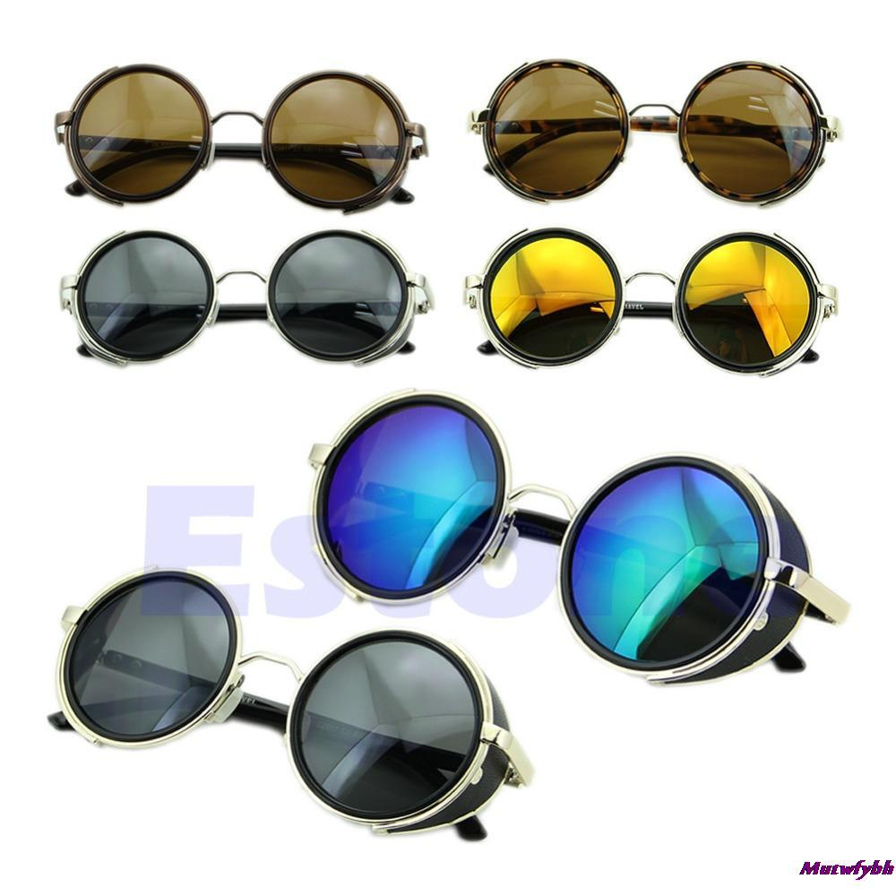 Steampunk Sunglasses 50s Round Glasses Cyber Goggles Vintage Retro Kacamata Style Blinder Free Shipping In From Womens Clothing Accessories On