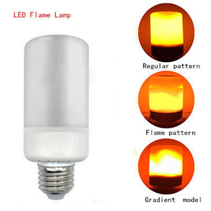 LED flame E27/E26/B22/E14 SMD2835 99LEDs fire lamp 7W AC85-265V 1400-1600K third gear mode simulation flame dynamic lighting